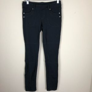 Athleta women's pants small black stretch casual